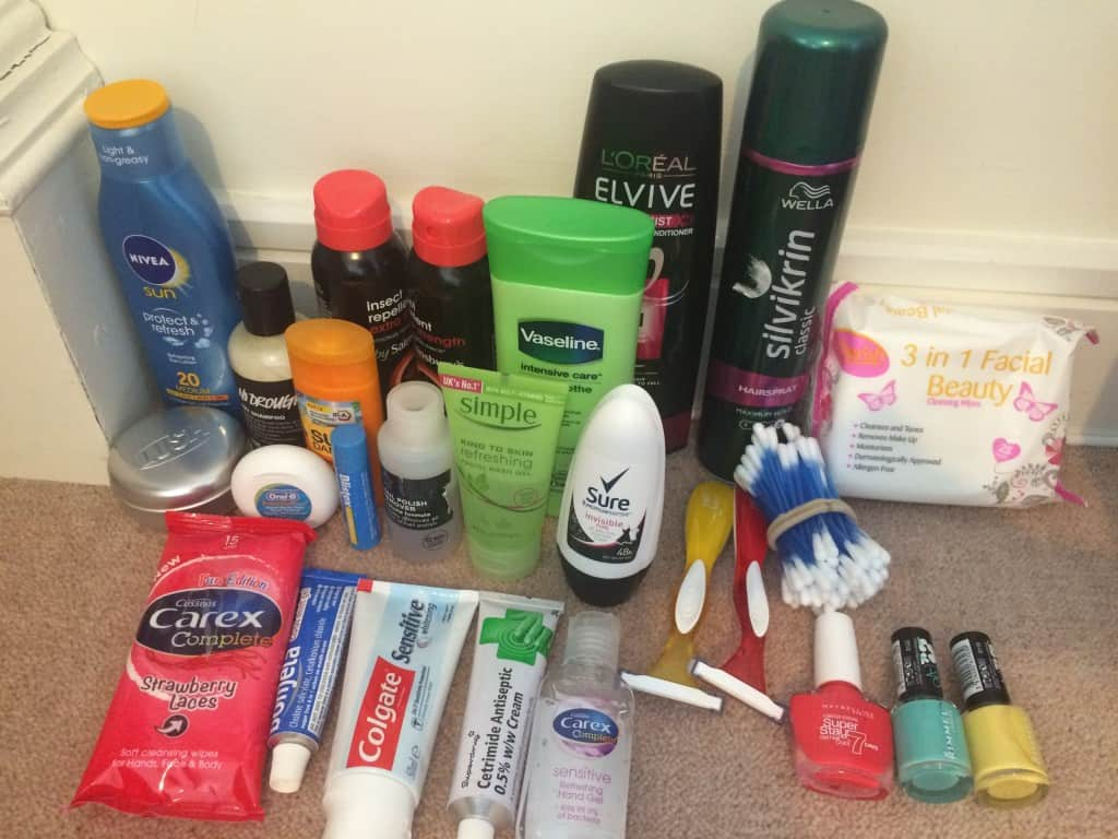 My toiletries
