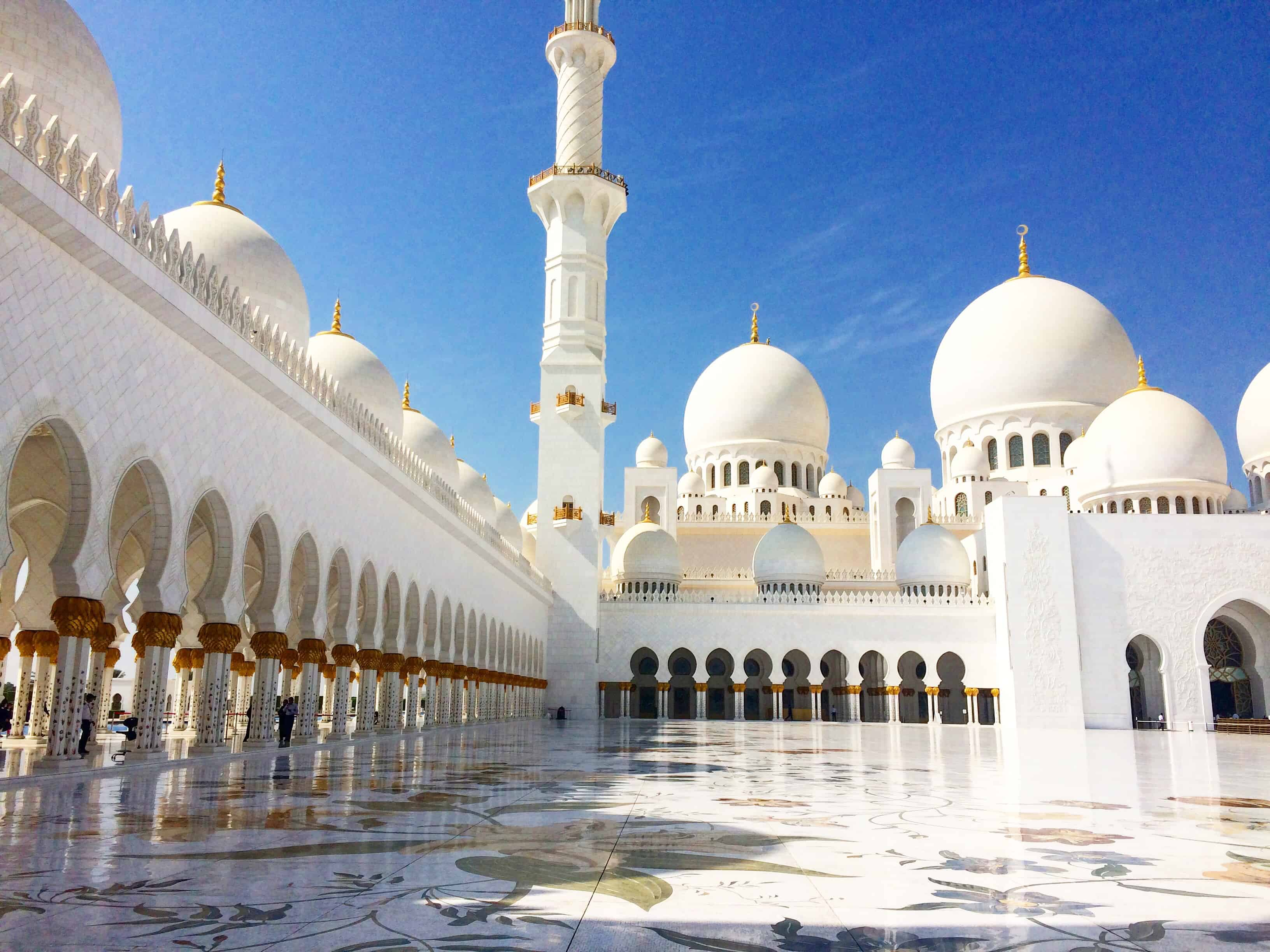 Visiting Sheikh Zayed Grand Mosque In Abu Dhabi From Dubai
