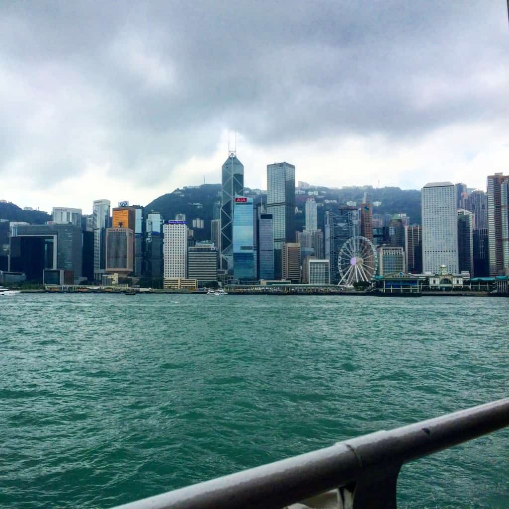 Cloudy but gorgeous view from the Star Ferry.
