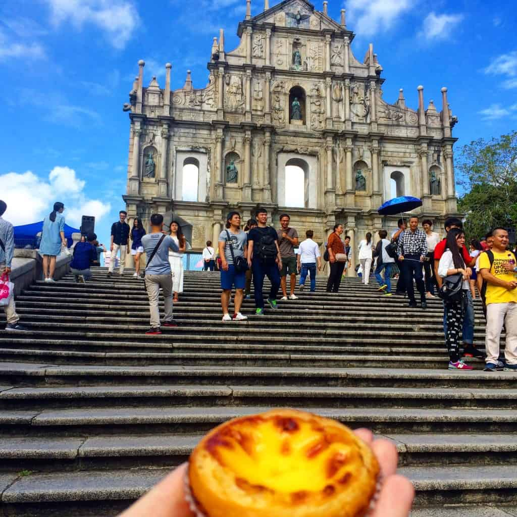 Macau- Ruins of St Paul's and an egg tart!