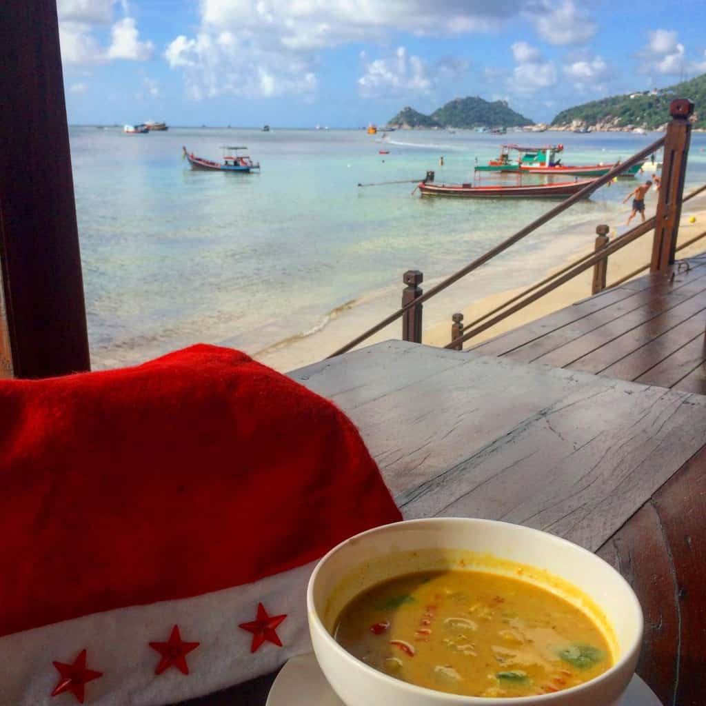 vegetarian in South East Asia Red Curry with tofu Koh Tao Thailand