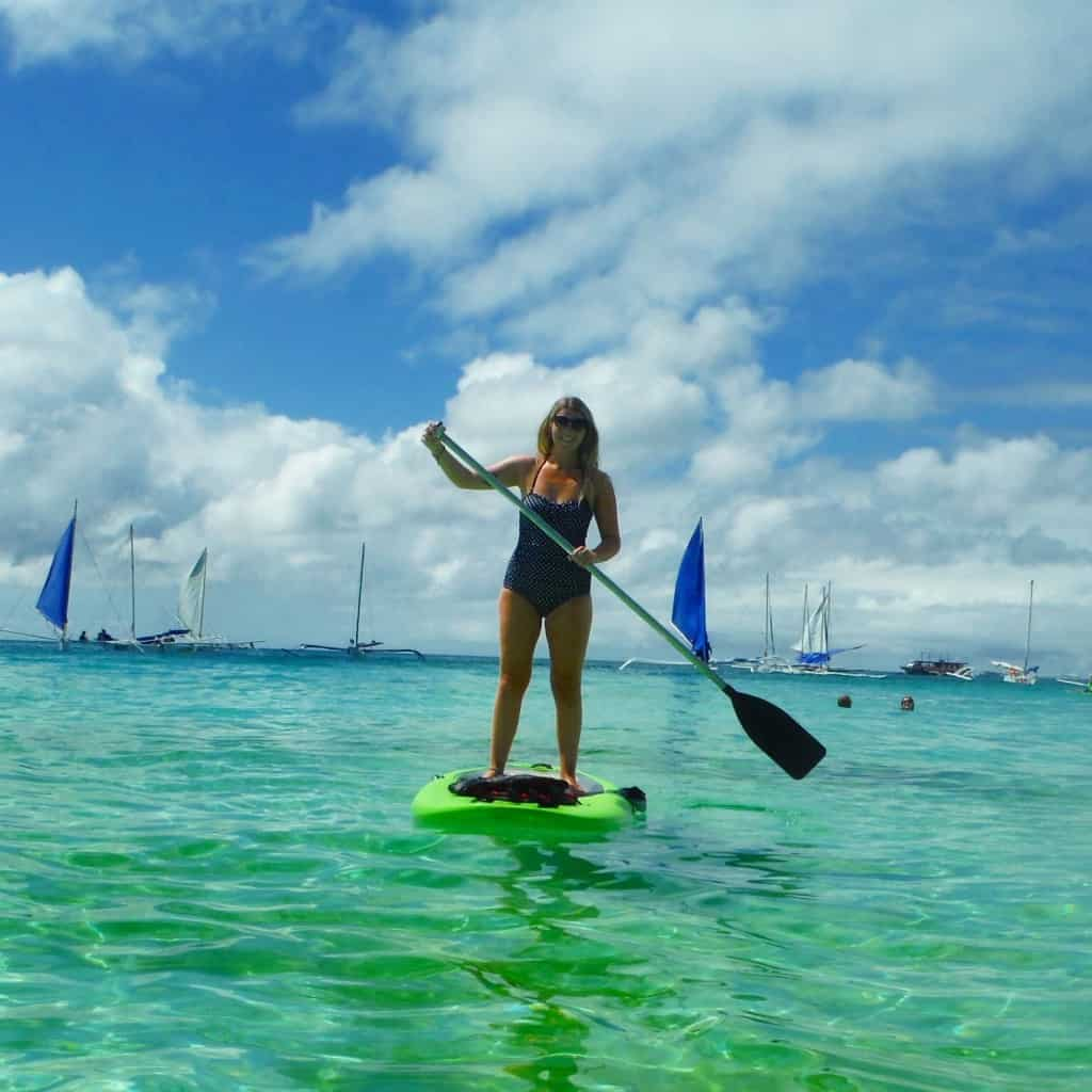 Paddle boarding fun!