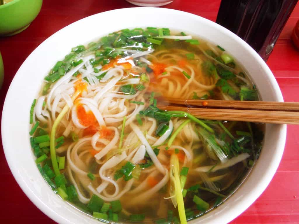 vegetarian in South East Asia pho vietham