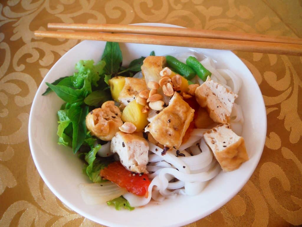 vegetarian in South East Asia tofu