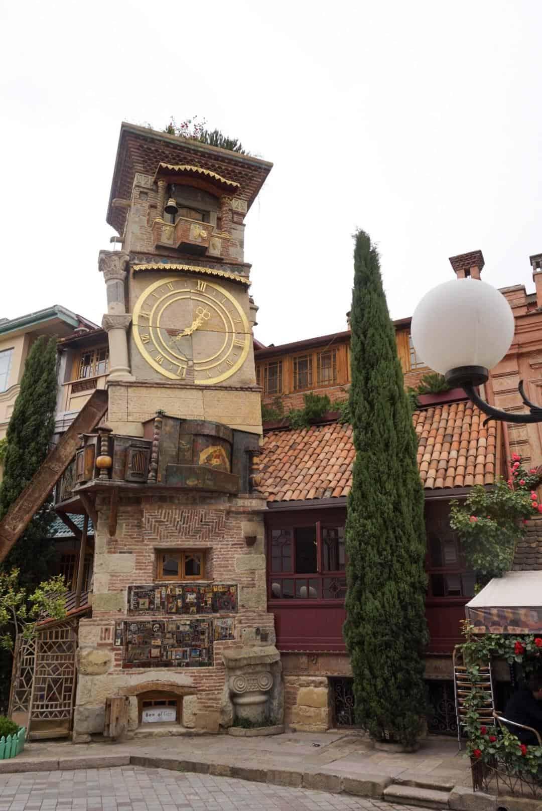 guide to Tbilisi Georgia clock