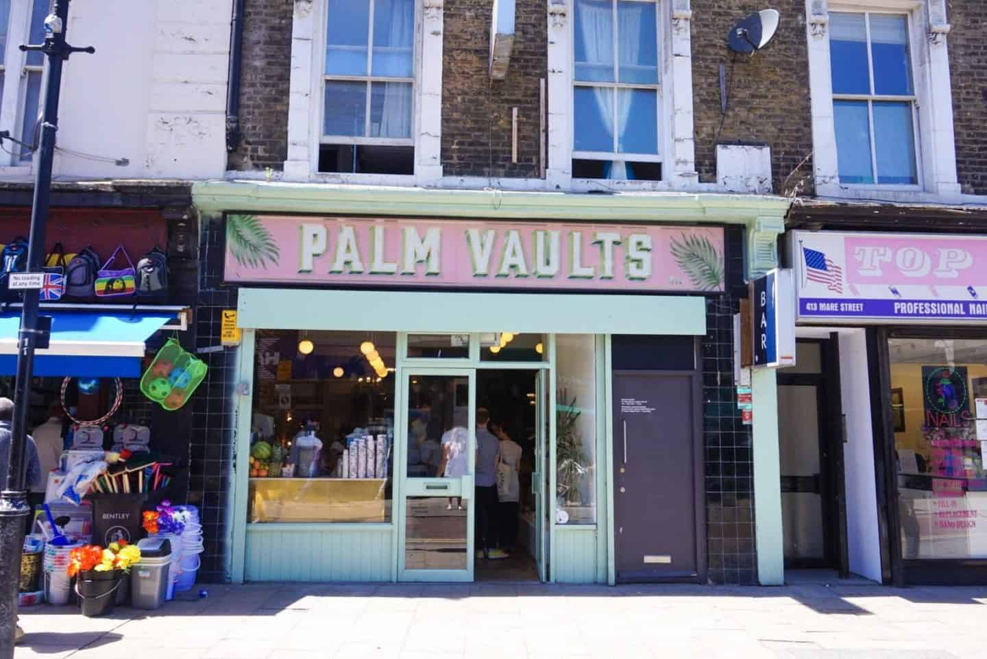london brunch palm vaults