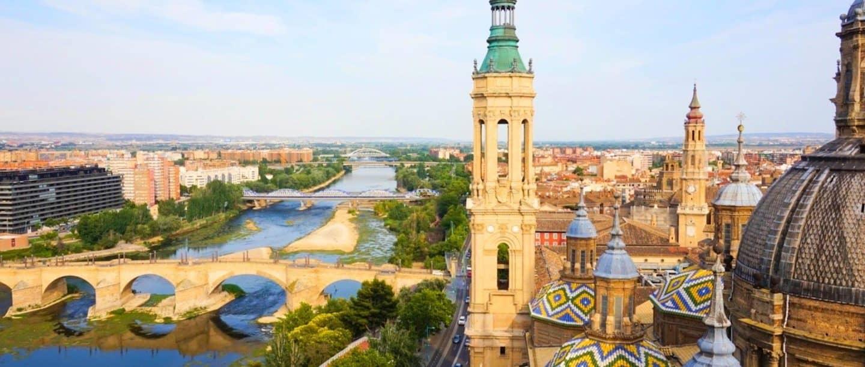 City map Zaragoza Spain