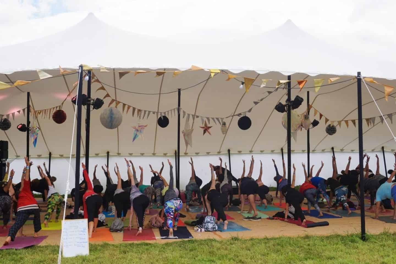 yoga at soul circus festival