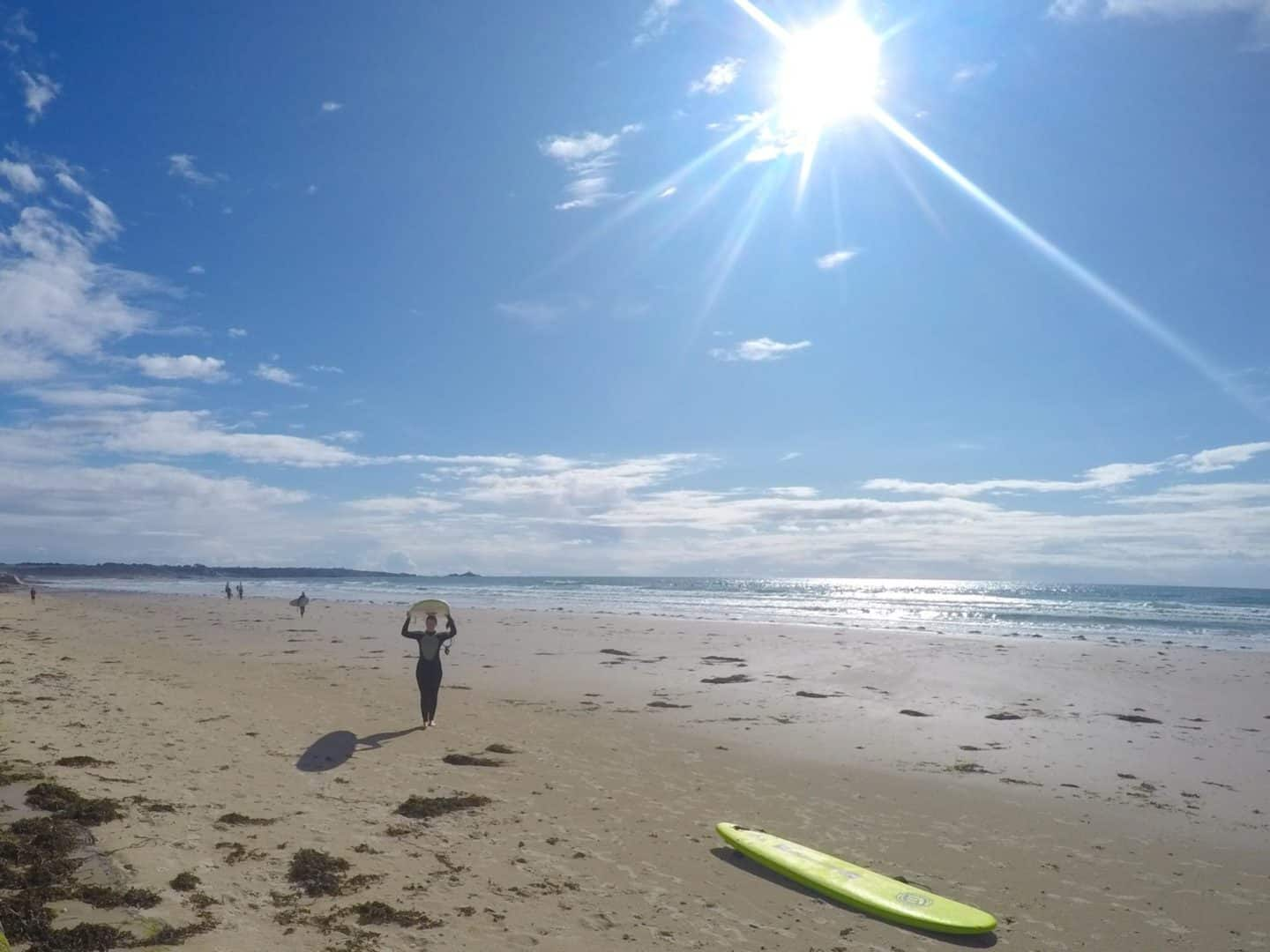 Jersey British Isles weekend guide me surf board