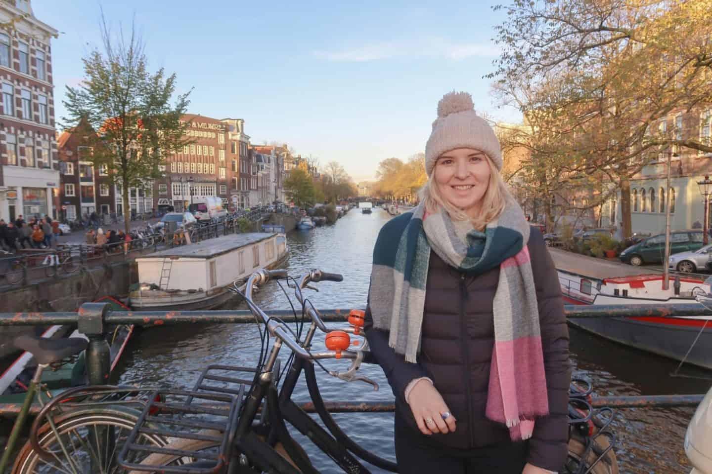 Amsterdam budget weekend girl