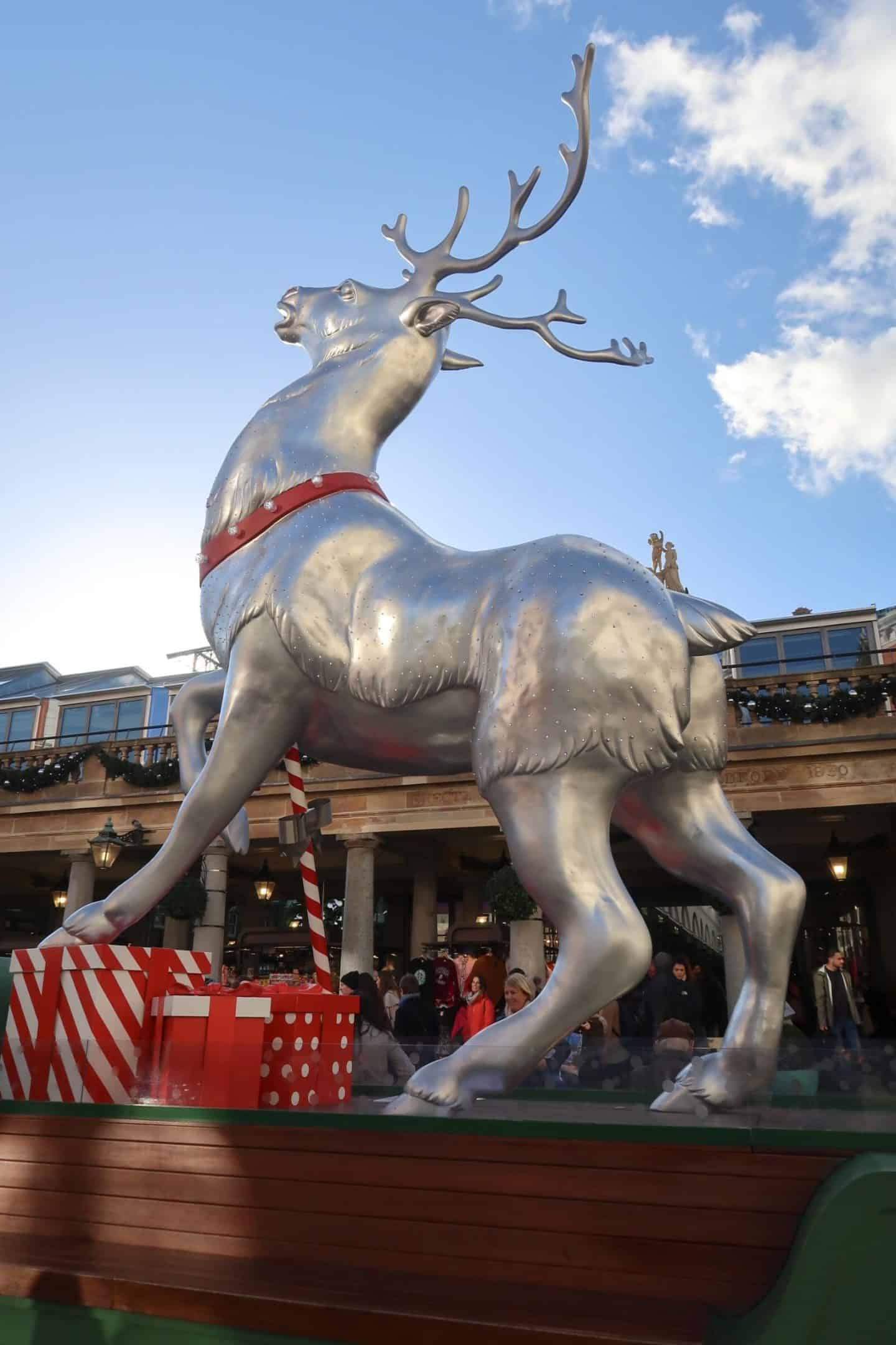 Christmas London Guide Walk covent garden reindeer