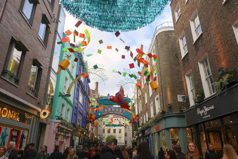 Christmas London Guide Walk carnaby street