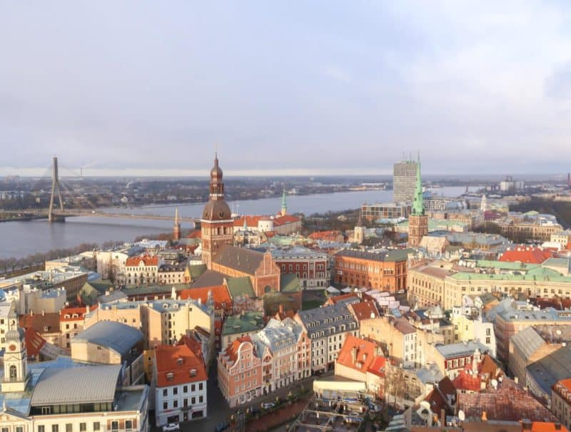 Riga Viewpoints panoramic view st marks church