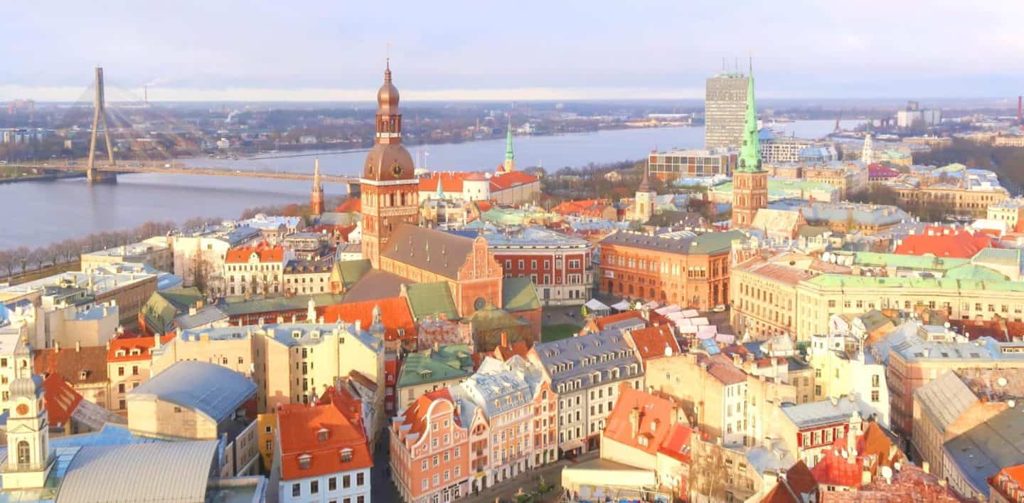 4 Viewpoints to see Panoramic Views over Riga, Latvia inc all the Details!