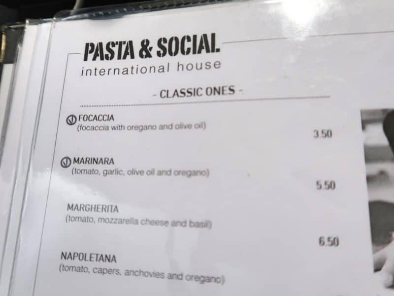 pasta and social vegan menu rome