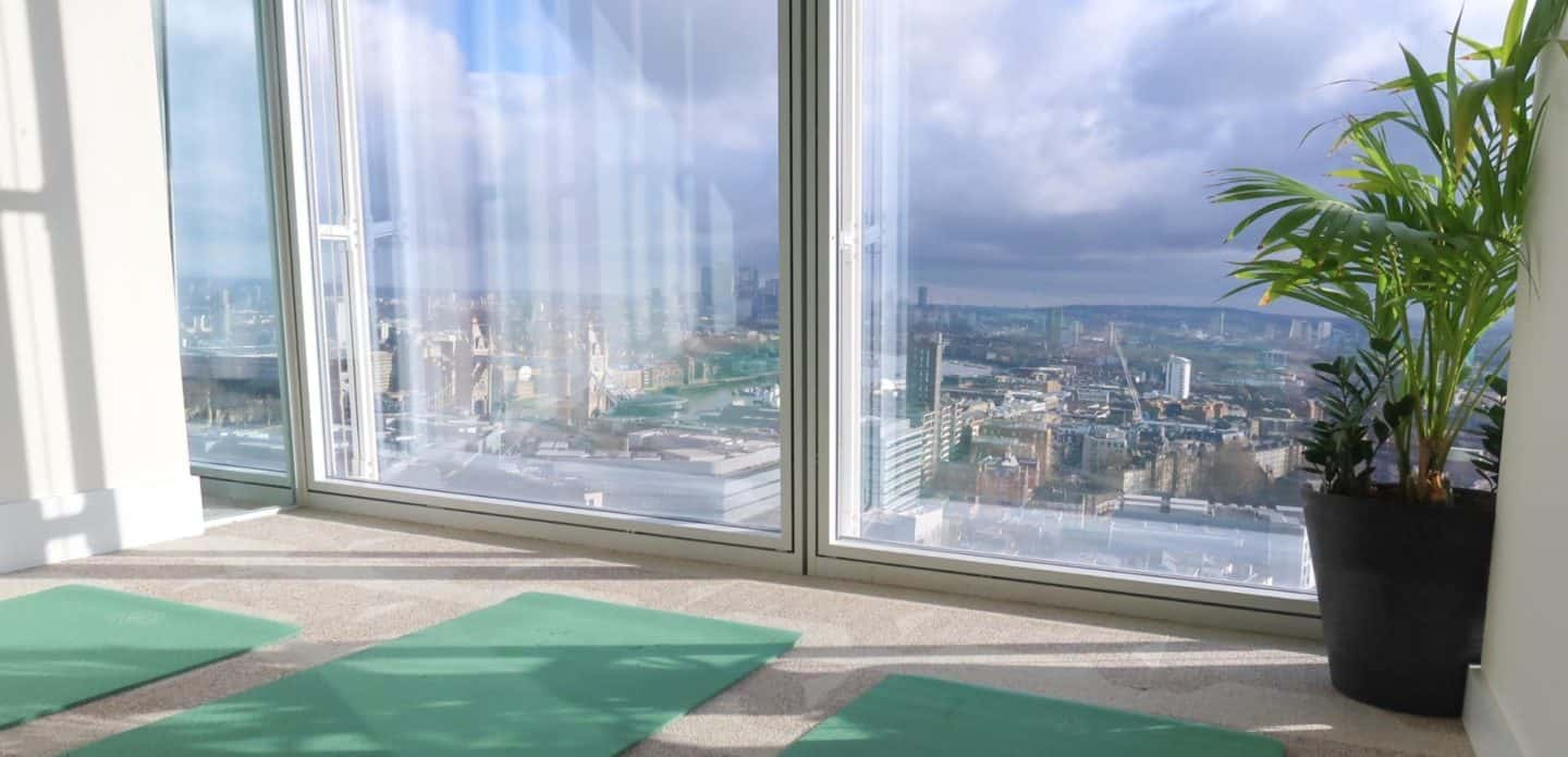 Taking a Yoga Class at the Top of The Shard in London!