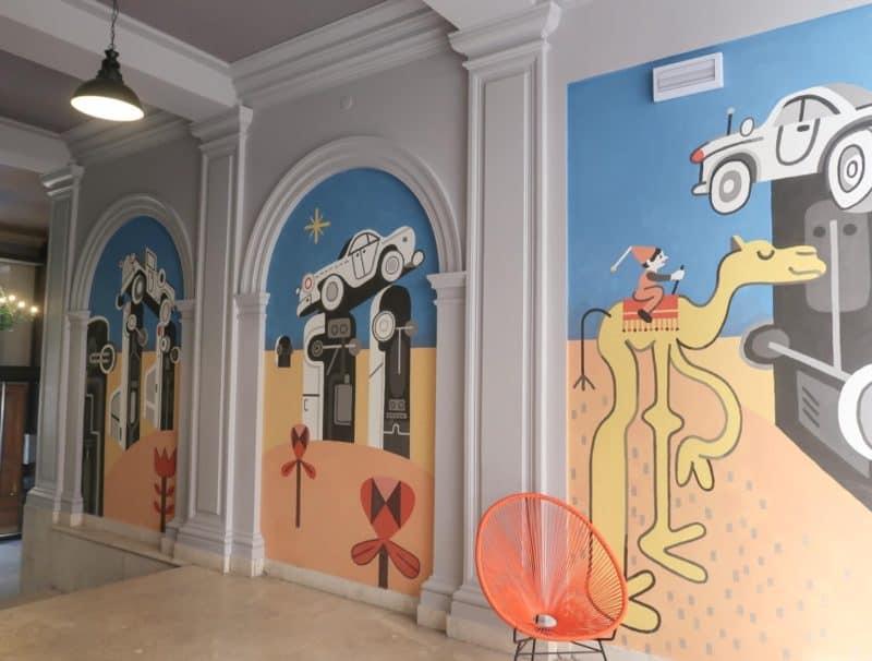 The RomeHello Hostel street art