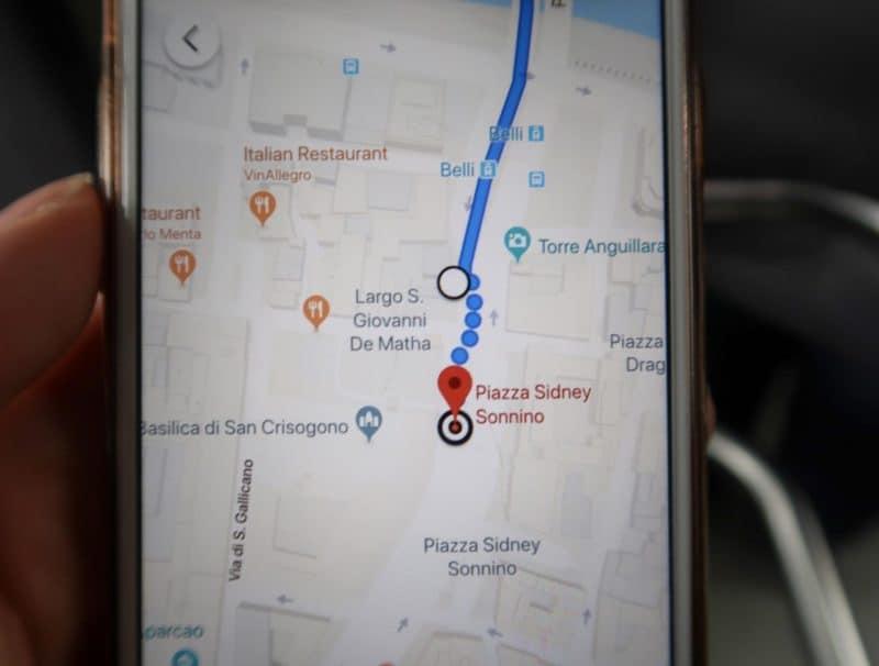 Trastevere Gianicolo Hill Rome map