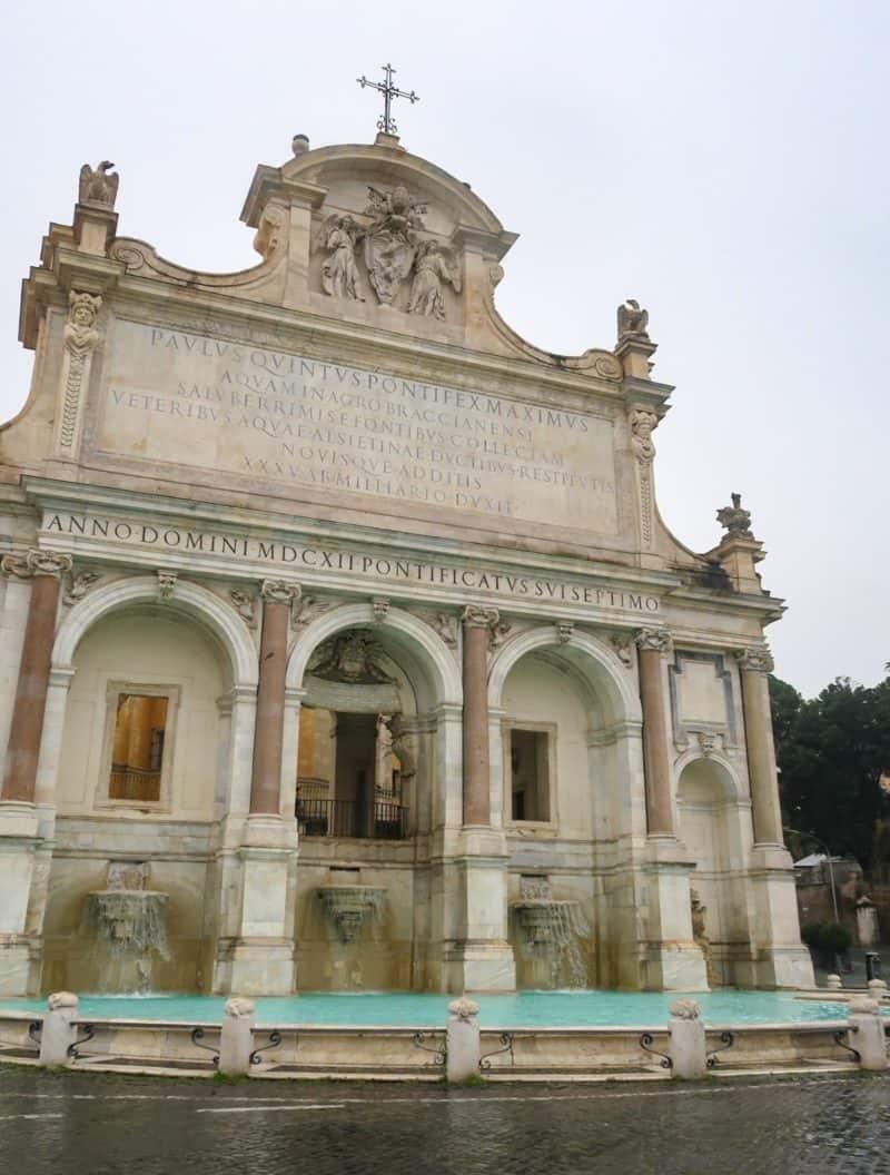 fountain Gianicolo Hill Rome