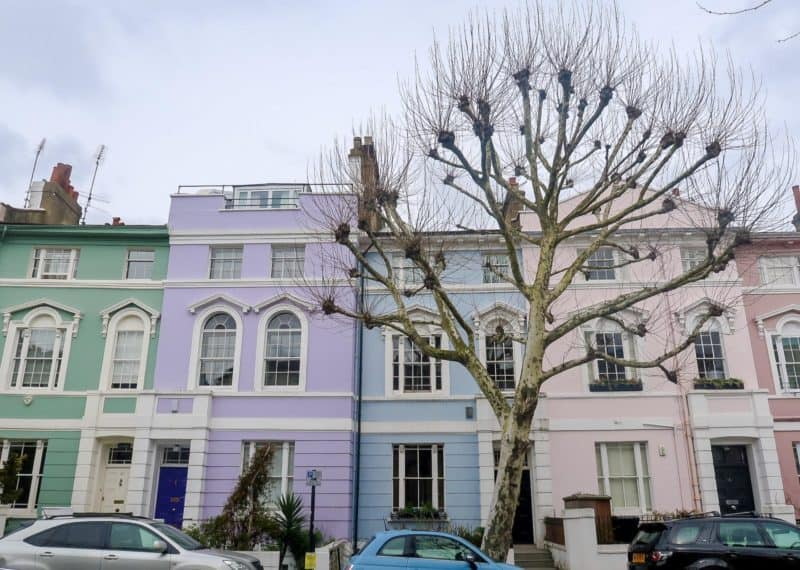 Primrose Hill colourful houses