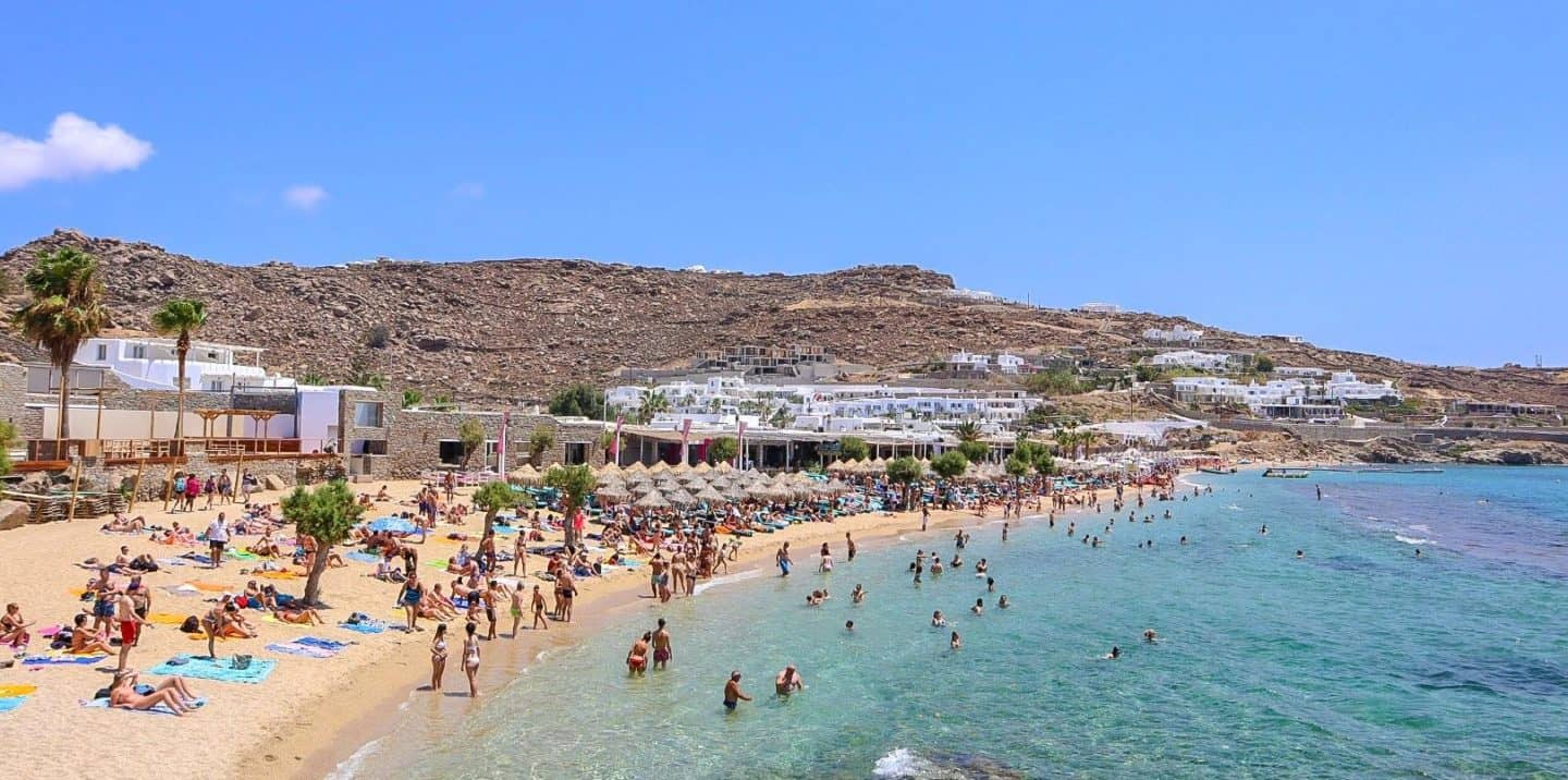 Visiting Paradise Beach in Mykonos For a Beach Party!