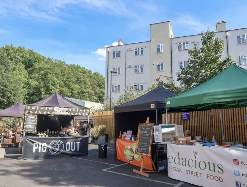 London Street food market Hackney Downs Vegan Market
