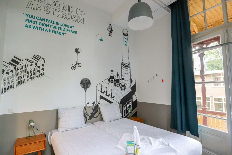 Stayokay hostel Vondelpark Amsterdam twin room