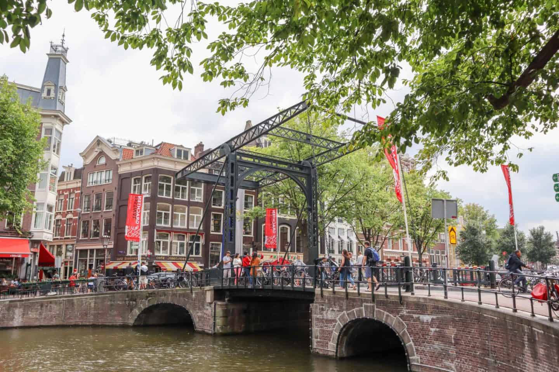 Amsterdam lifting bridge