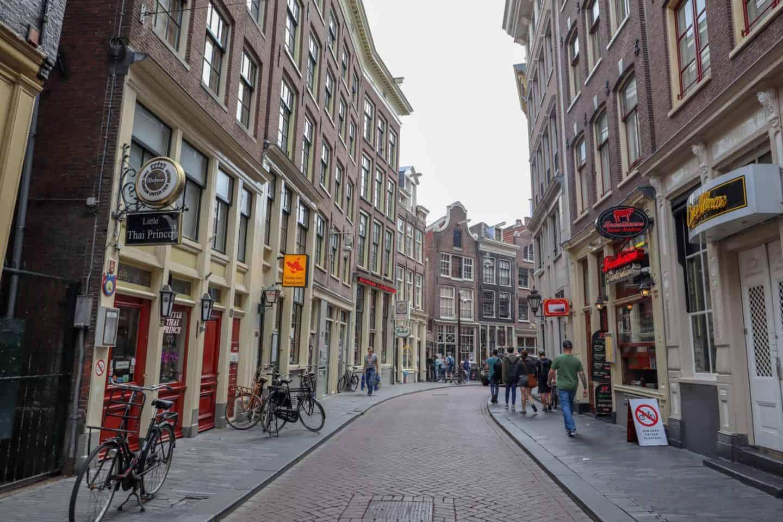 Amsterdam zeedijk street