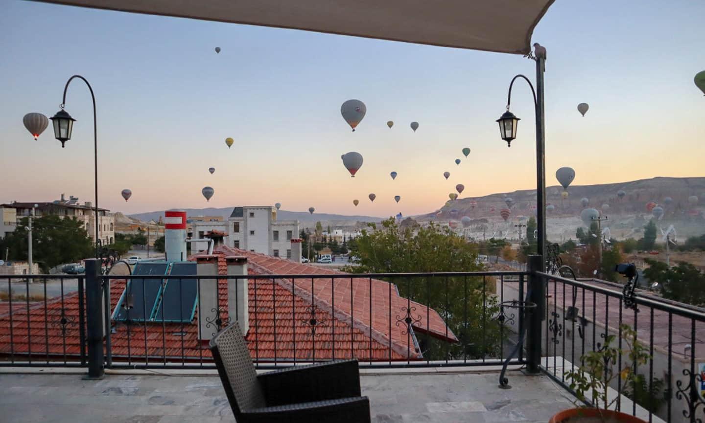 Cappadocia View Hotel Terrace Balloons