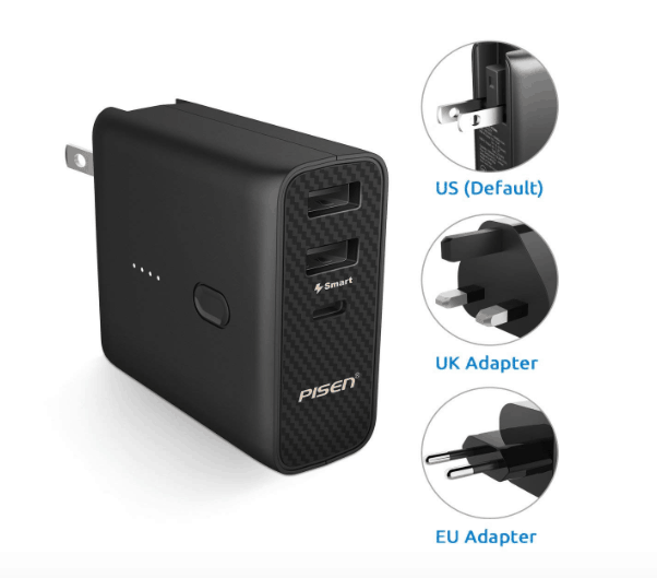 pisen international charger and power bank