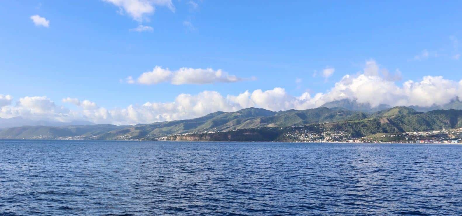dominica island and mountains from the ocean | dominica day tours