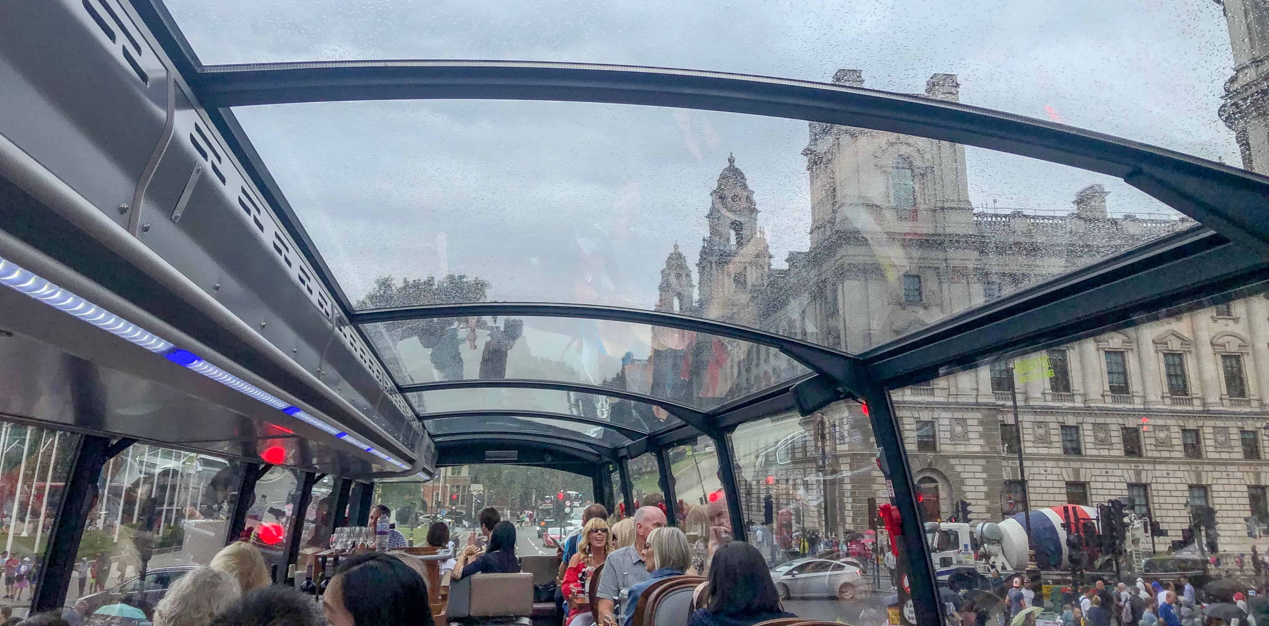 London Bus Restaurant Tour | things to do when it rains in London